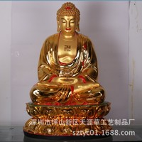 Guangdong wholesale custom large gilded Buddha temple resin crafts ornaments large big day, if 110 cm