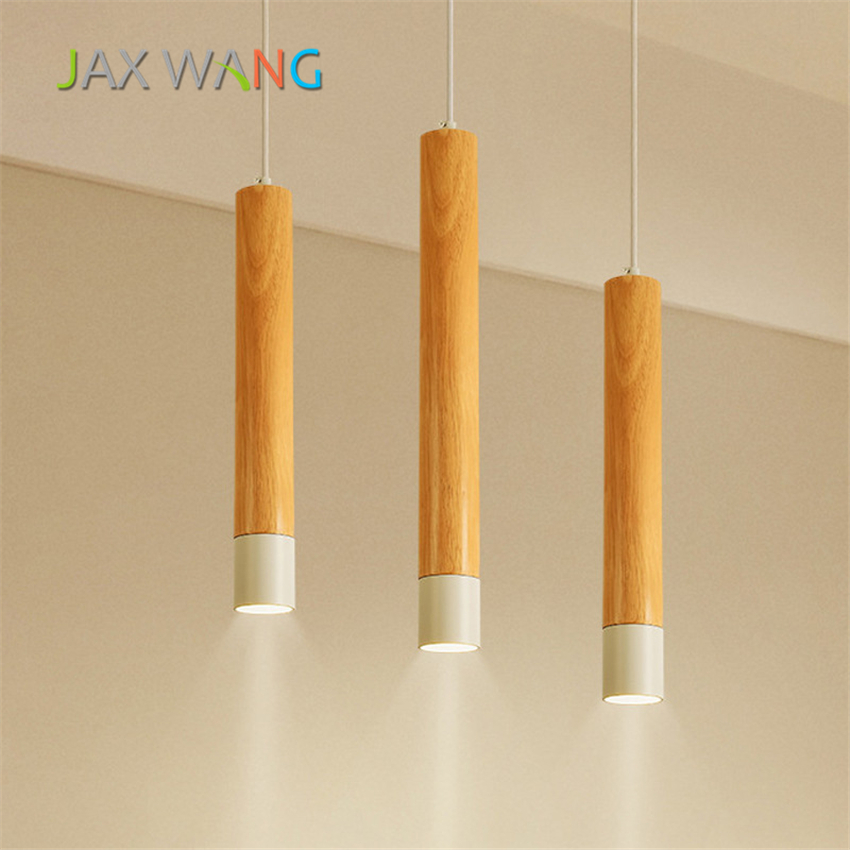 LED Kitchen Dining & Bar Pendant Light Nordic Solid Wood Cylindrical Pendant Lamp Living Room Bedroom Hanging Lighting LuminariaLED Kitchen Dining & Bar Pendant Light Nordic Solid Wood Cylindrical Pendant Lamp Living Room Bedroom Hanging Lighting Luminaria