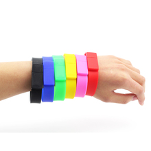 free shipping Full Colors Silicone Bracelet USB Flash Memory Drive 16GB