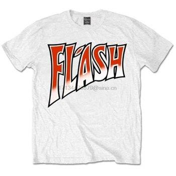 XXL Мужская футболка Queen Flash Gordon с эмблемой, официальный логотип Freddie Mercury, хлопковая футболка с коротким рукавом и круглым вырезом