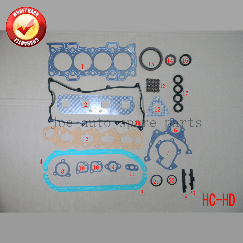HDC HDE HCE HCEJ kit de jeu de joints complets pour DAIHATSU Feroza/charade/applaudissements/fourtrak/taruna 1.6 1.3 50120700