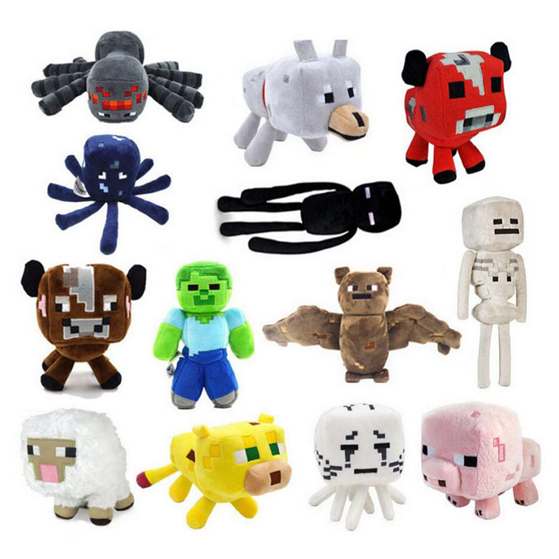 minecraft-plush-toys-16-26cm-minecraft-creeper-enderman-wolf-steve-zombie-spider-sketelon-plush-stuffed-toys-for-kids-baby-toys