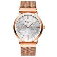 GUANQIN Brand Fashion Simple Watch Mens Watches Top Brand Luxury Stainless Steel Mesh Quartz Watch Yazol