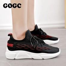GOGC Shoes Woman Sneakers zapatos de mujer Female platform Lace Up Causal Shoe for Women basket femme chaussures Flat Shoe 690