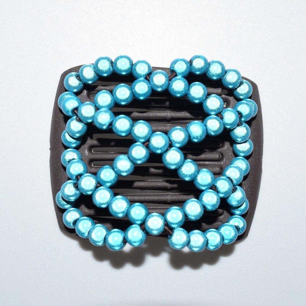 Small Size Beads: Beautiful Blue Shining Beads Small Size Magic Comb 20pcs