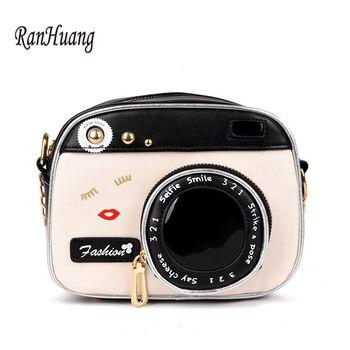Ranhuang 2019 Wanita Mini Tas Bahu Fashion Flap Kamera Desain Kulit Messenger Tas Wanita Vintage Tas Selempang A1042