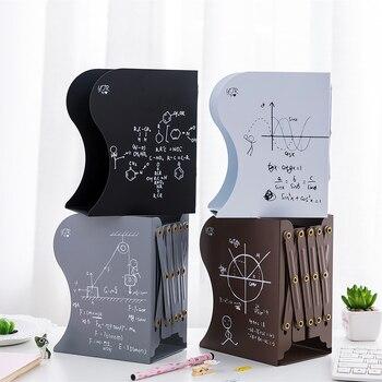 Sujetalibros retráctil de función matemáticas de Metal, soporte organizador de escritorio de oficina, tapón de libro para libros/películas/CDs 150x100x190mm