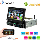Podofo Android GPS Navigation Car CD/DVD Multimedia Player MP5 Autoadio 7