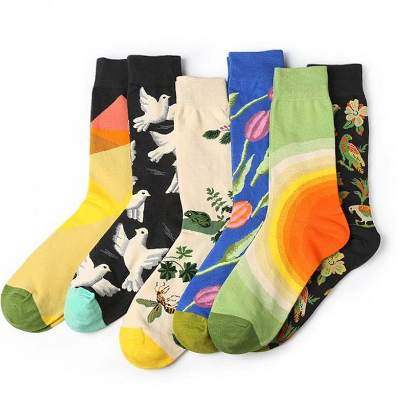 Popular Hosiery Cartoon Plant Cotton   Socks   Novelty Funny Pattern Women Mens Unisex Skateboard   Sock   Colorful