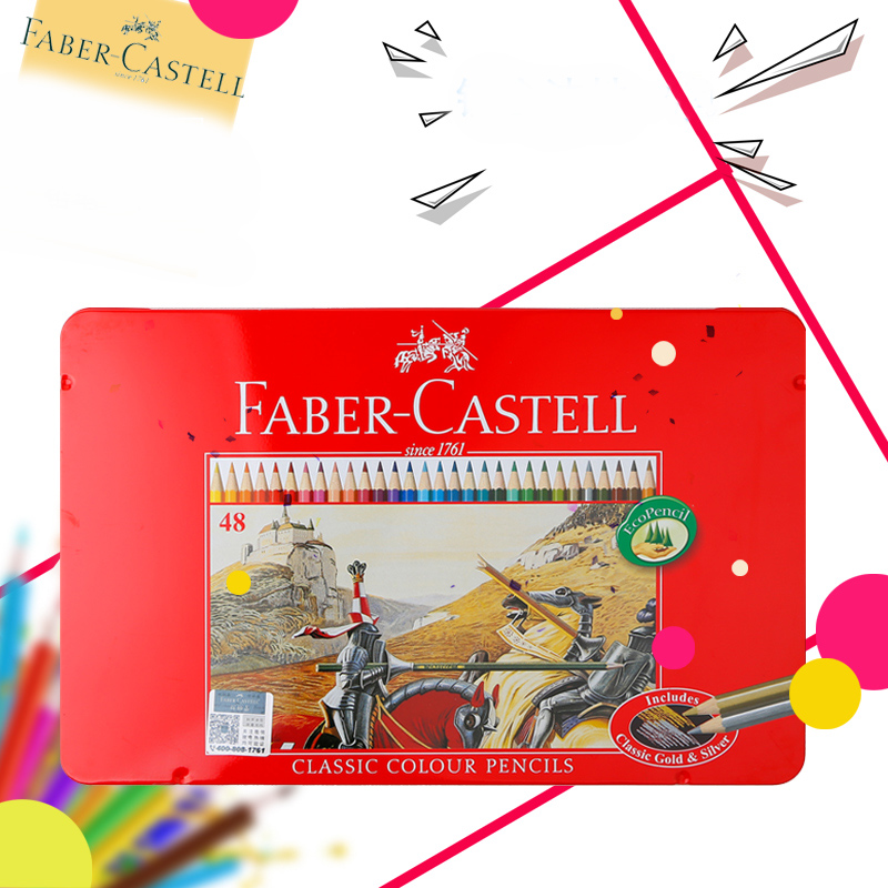 Faber-Castell 72 Colors Professional  Fine Watercolor Art Pencil For Drawing lapices de colores acuarelables For School Supplies faber castell 48 60 colors watercolor colored pencils lapis water soluble color pencil school art supplies lapices de colores
