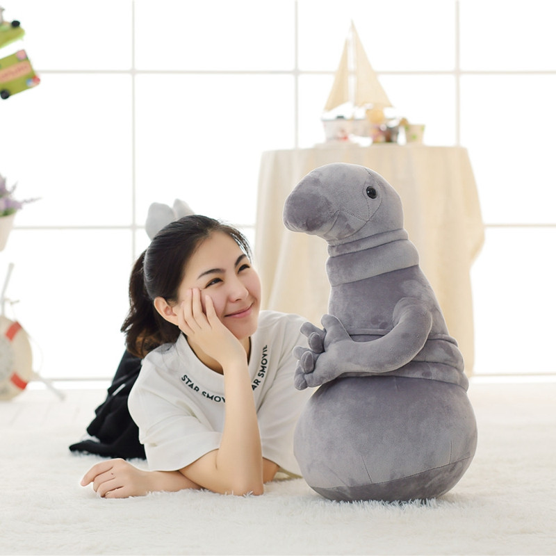 1pc Creative 30/45cm Waiting Zhdun Meme Tubby Gray Blob Zhdun Plush Toy Stuffed Animal Dolls Kids Gifts Homunculus Loxodontus