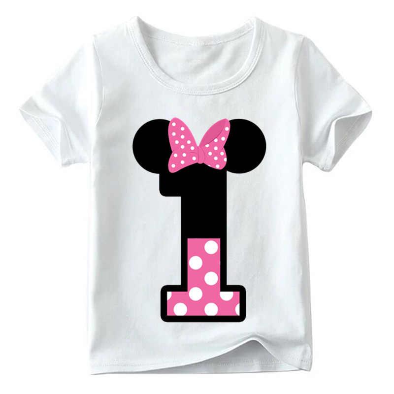 เด็กชายหญิงเสื้อยืดวันเกิดฤดูร้อนเด็กเสื้อผ้า Funny T เสื้อ Tshirt Tees Tops ขนาด 1 2 3 4 5 6 7 8 9 ปีปัจจุบัน