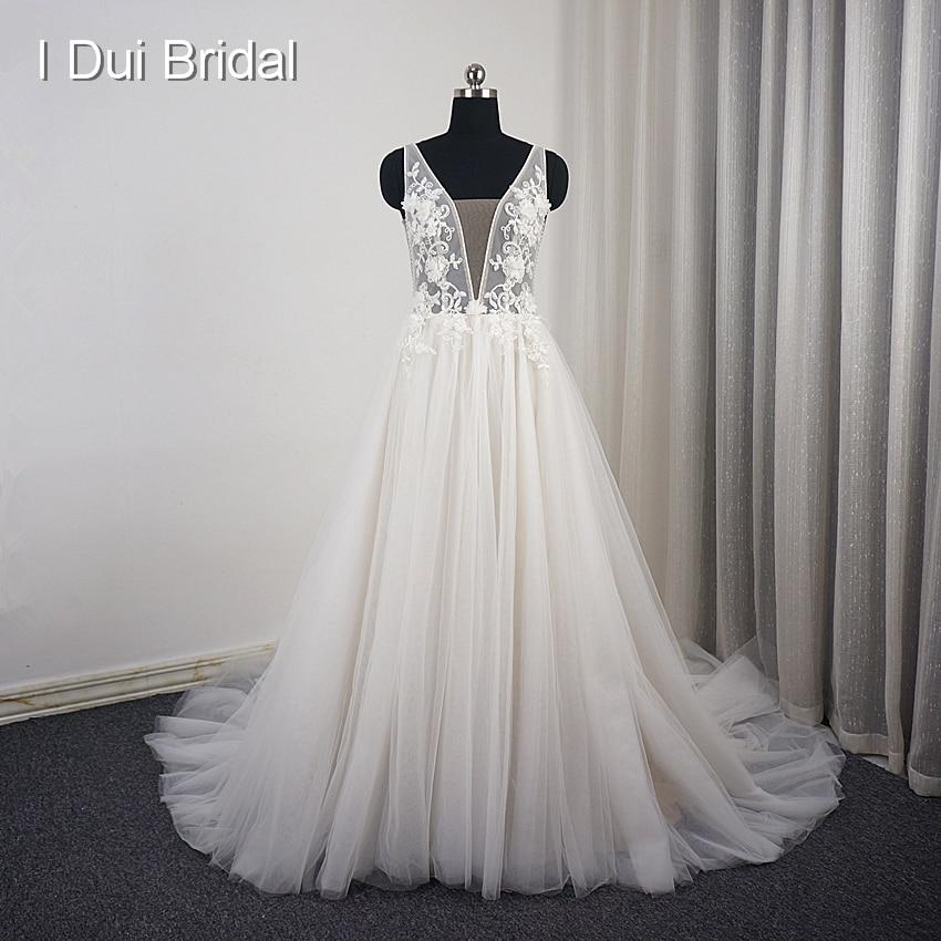 Wedding Gown Bustier: Aliexpress.com : Buy Lace Floral Wedding Dress A Line
