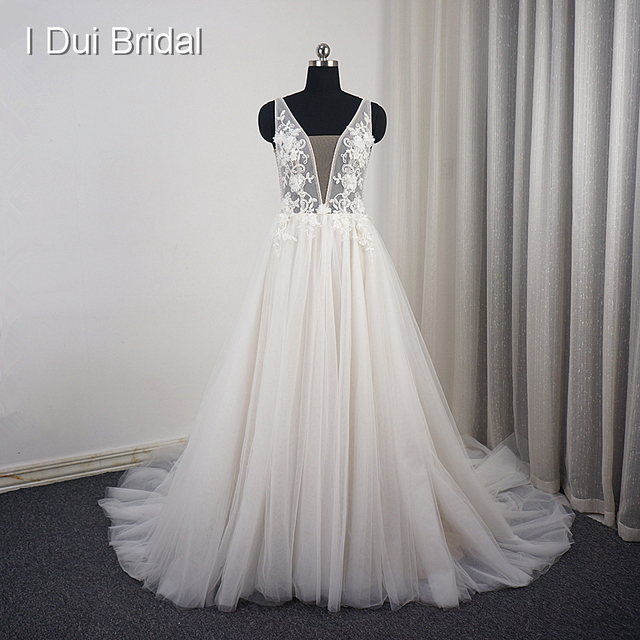 Aliexpress.com : Buy Lace Floral Wedding Dress A line