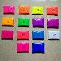 Cores misturadas, 10g por cor Fluorescente Em Pó Sabão em pó Neon Pigmento para Tinta de Impressão Da Arte Do Prego Polonês