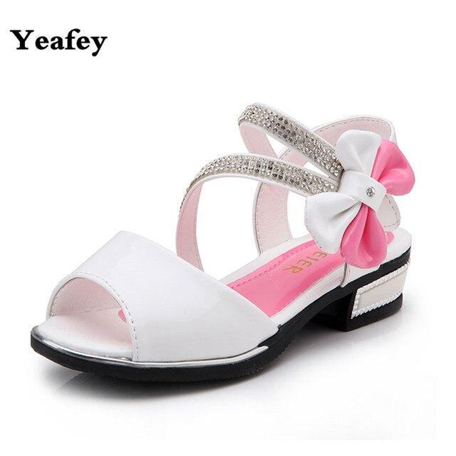 0fcb58b8f Branco Sandálias Gladiador Meninas Comprar Meninas Praia Princesa Diamante  Sapatos Ortopédicos Sandálias Salto Alto Calçados Infantis