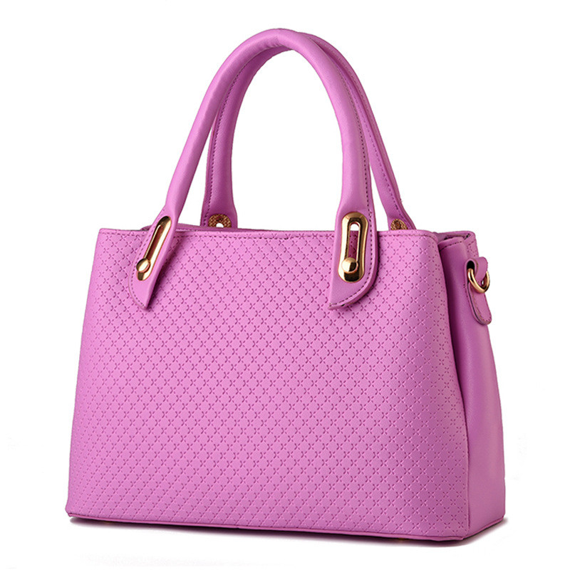 Fashion PU Women Shoulder Bag Office Lady Business Handbag Purple Casual Clutch Zipper High Quality 31x21x12cm elegant pu office lady business handbag casual clutch fashion women shoulder bag zipper pink