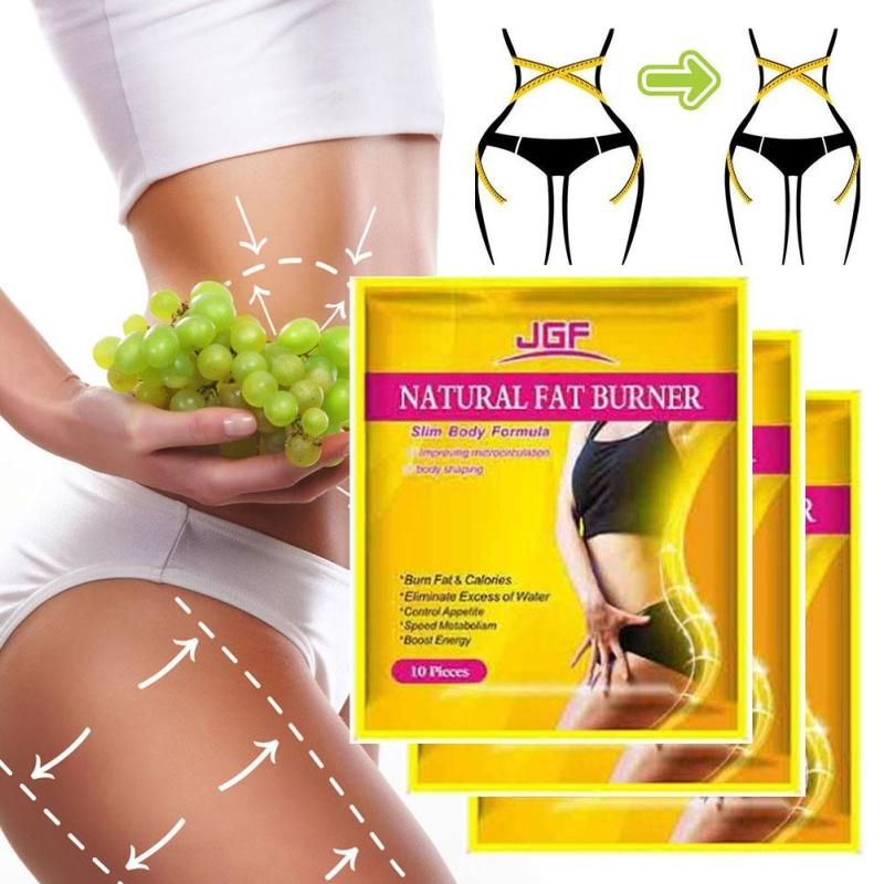 10 pcs Body Slim Patch Navel Sticker Adhesive Burning Fat Patches Anti-Cellulite Medicated Plasters Weight Loss Body Shaping L3