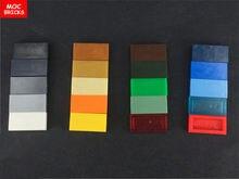 200 pcs/lot MOC briques amis tuiles colorées 1x2 ajustement avec 3069 bricolage blocs de construction éducatifs Action Figure enfants cadeaux