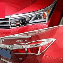 Тюнинг автомобилей ABS Передние фары планки сзади фар планки для TOYOTA COROLLA 2013 2014 2015 2016 2017 2018 E170