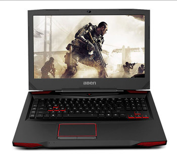 "Bben 17.3"" Windows 10 Laptop Gaming Computer I7-7700HQ CPU NVIDIA GTX1060 6GB No Ram No Rom GDDR5 Vedio Card BT4.0 RJ45 USB Port 1"