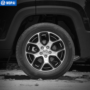 Image 2 - MOPAI ABS Car Wheel Hub Cover Decoration Cover Frame ABS Stickers for Jeep Renegade 2015 2017 Exterior Accessories Car Styling