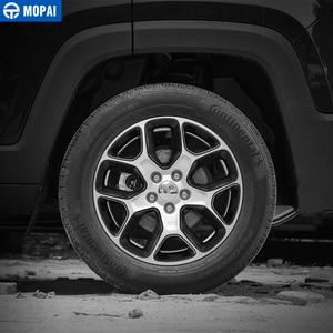 Image 2 - MOPAI Cubierta del Centro de volante para coche, cubierta de decoración, marco de pegatinas ABS para Jeep Renegade 2013 2018, accesorios exteriores, estilo de coche