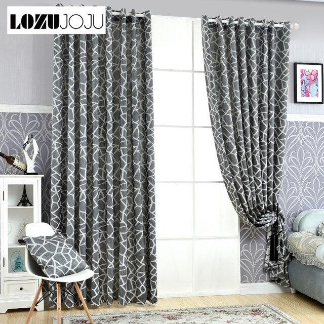 lozujojufree verzending gordijnen eenvoudige home design gordijnen blind decoratie geometrische living jacquard moderne kamer gordijnen zwart