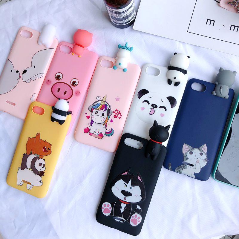 Redmi 6A 3D Case On For Etui Xiaomi Redmi 6A Case Kawaii Bear Unicorn Silicone Cover For Xiaomi Redmi 6A Xiomi Phone Case 5.45