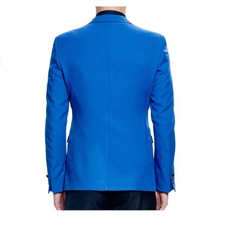 Same Pantalones Traje Encargo Puro Con Color Mejor Chaqueta Del Novio Dos Y Picture Novia De Hombre Negros Moda Azul As Botones La El Vestido wAd1tq1