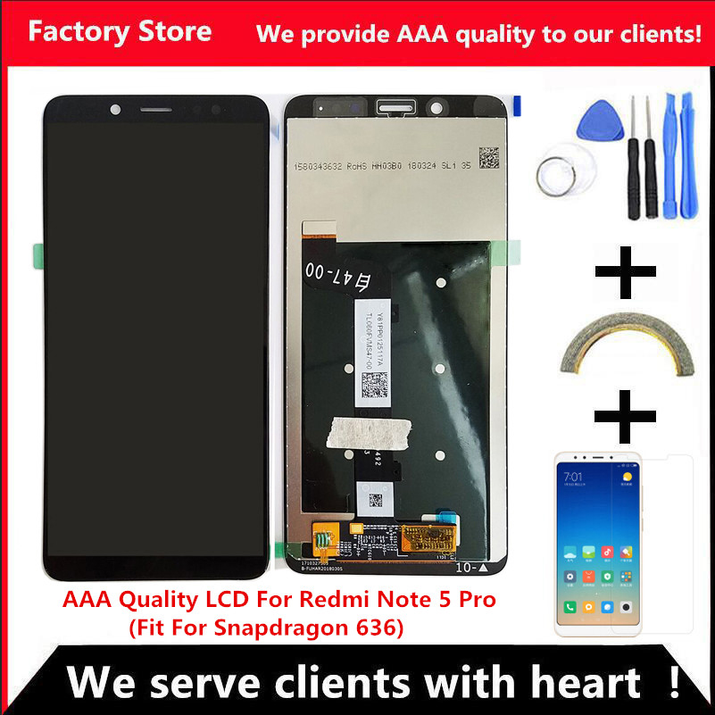 10 Touch AAA Quality LCD Frame For Xiaomi Redmi Note 5 Pro LCD Display Screen For
