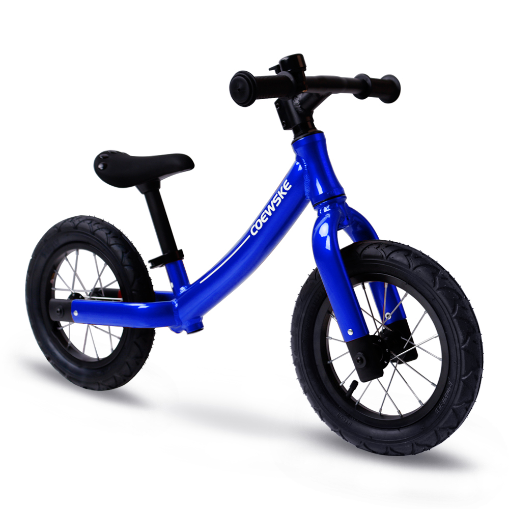 Coewske 12 Inch Aluminum Balance Bike Toddler No Pedals For 2 – 6 Year Old - Red, Blue, Black 2