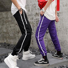 Men Jogger Pants Student 2019 New Arrival Spring And Autumn Black White Red Purple Green Orange Male Teenager boys n2