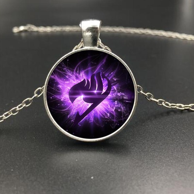 Fairy Tail Glass Gothic Jewelry Necklace