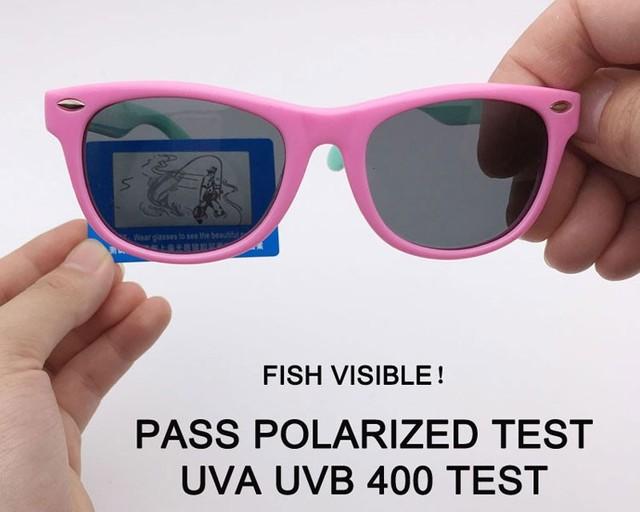 Kids Sunglasses Children Polarized Lenses Glasses Girls Boys Silicone UV400 Child Mirror Baby Eyewear Gafas