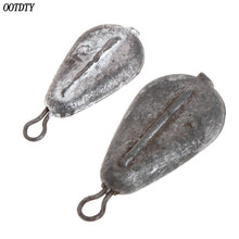 OOTDTY Fishing Sinker Water Drop Shape Lead Weights 20g/30g Tackle Deep Sinkers Lure Bait Professional Hoop Hanging Accessories