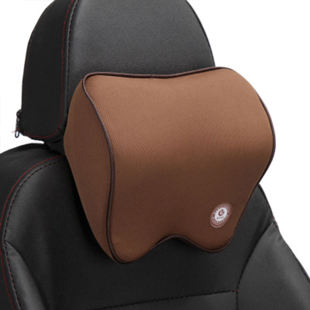 Vehemo автомобильные подушки для шеи подголовник автомобиля дышащие удобные сиденья Шейная поддержка шеи Подушка четыре сезона - Название цвета: light brown