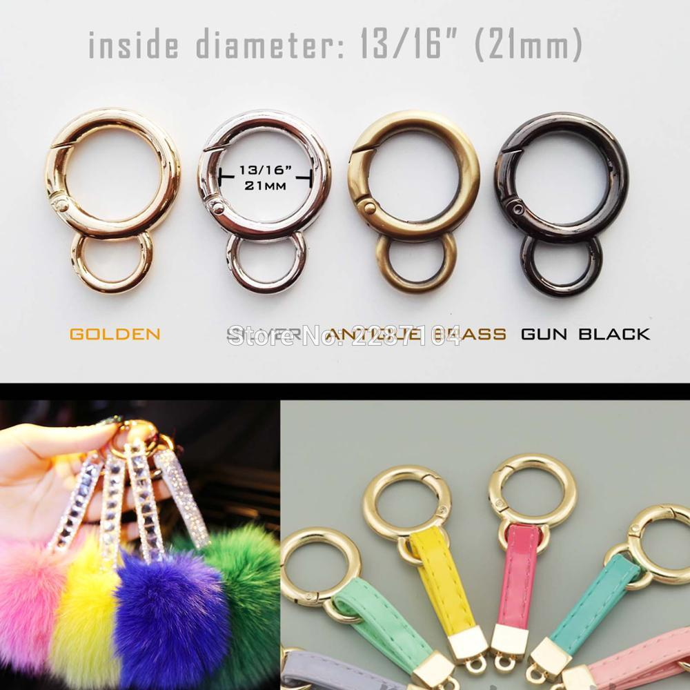 5pcs Spring Gate O Ring Openable Keyring Bag Strap Buckle Clasp Clip Supplies