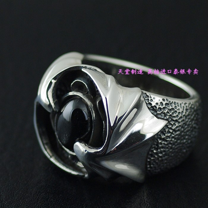 Thailand imports 925 sterling silver ring, star stone demon wings Silver Ring silver wings silver wings 22ke5889 90 79