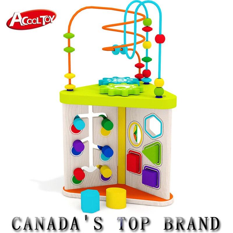Boulier en bois jouets Brinquedos haute qualité autour de perle labyrinthe Jouet Enfant mignon en bois formes géométriques jouets pour enfants jouets