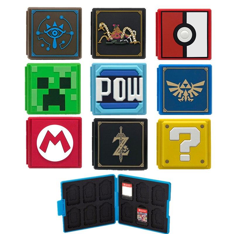 Obraz przedstawiający 12 Game Cards box Plastic Portable Case For Nintend Switch Shockproof Hard Shell Storage Box For Nintend Switch NS NX Game Card