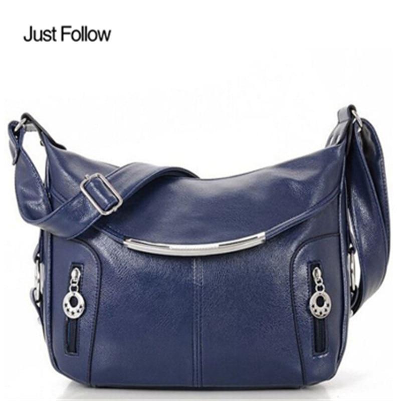 купить Lady PU Leather Crossbody Bags New 2017 Ladies Handbags Bolsos Women Messenger Bags Fashion Hobos Women Shoulder Bag Women Bag недорого