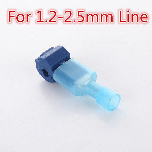10pcs L1 Blue T Type Quick Splice Crimp Terminal Wire Convenient ...