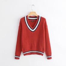 цены на NiceMix 2019 winder v lead hit color long sleeve knitting unlined upper garment special counter with fund school wind sweater  в интернет-магазинах