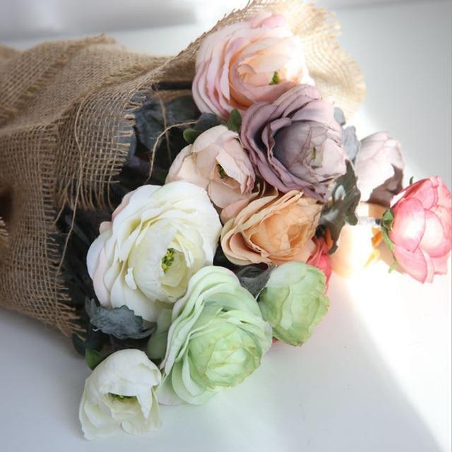 1Pcs Bouquet Artificial Ranunculus Flowers 15.55\