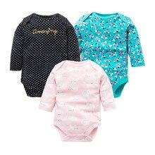 3 шт./лот; боди для новорожденных; комплект из хлопка; пижамы для маленьких мальчиков и девочек; Одежда для младенцев; нижнее белье с длинными рукавами; одежда для малышей