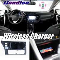 Liandlee Wireless Car Phone Charger Armrest Storage Compartment Fast qi Charging For Toyota Corolla E170 2013~2019