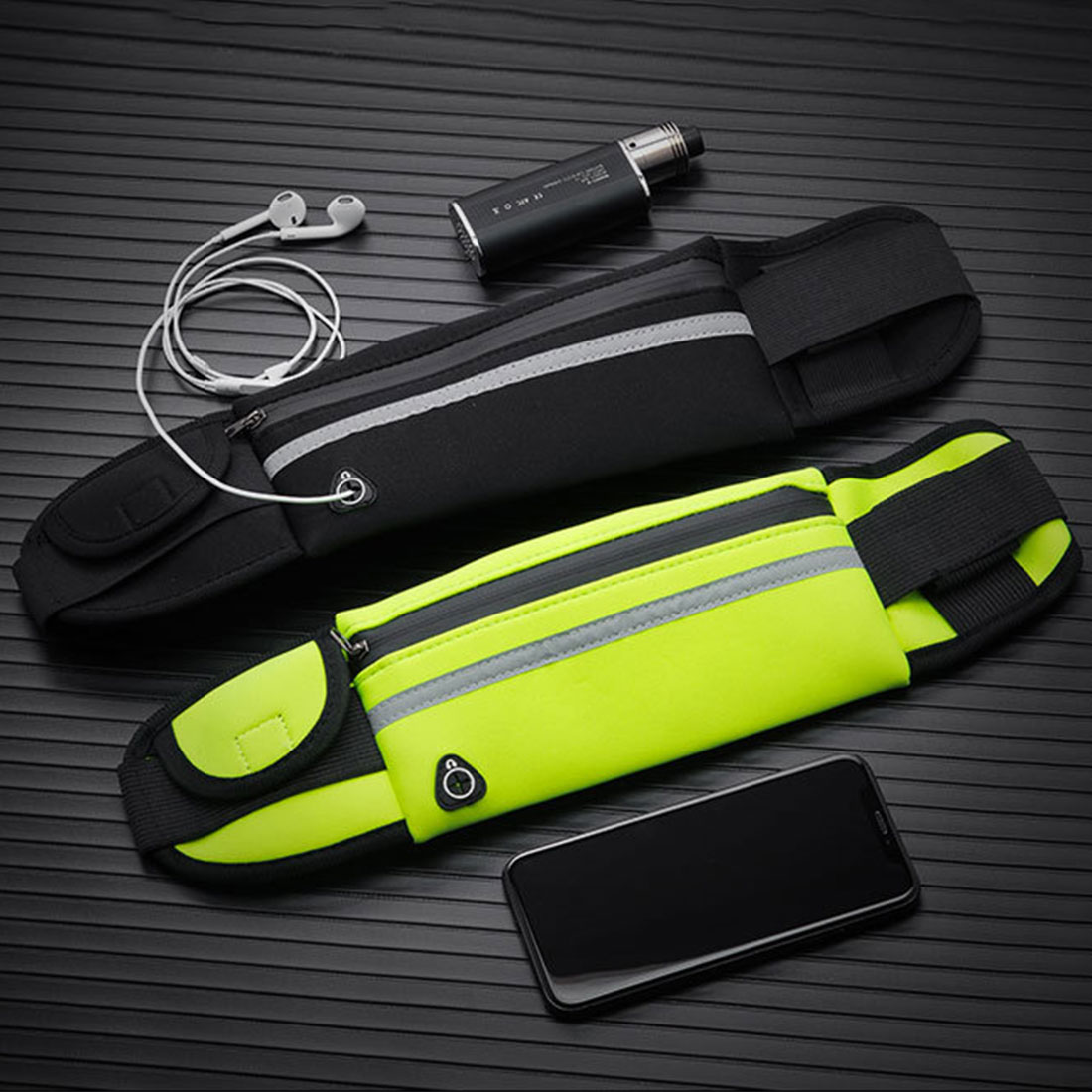Pellisilot Running Waist Bag Waterproof Phone Container Jogging Hiking Belt Belly