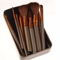 New Professional Makeup Brushes 12pcs Set Make Up Brush Sets Eye Shadow Iron Box Cosmetic Brush