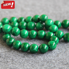 Fashion New 10mm Green beads Round Loose DIY Semi Precious Stone 15inch Jewellery Making Accessory Parts Crafts Design Balls